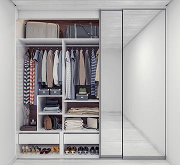 Frameless Mirror Doors Wardrobes